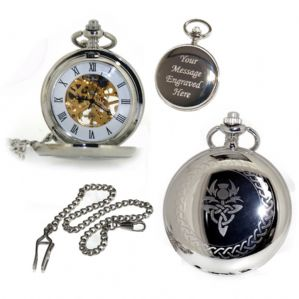 Scottish Mechanical Skeleton Pocket Watch